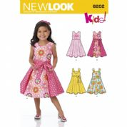 6202 New Look Pattern: Childs Dress and Sash